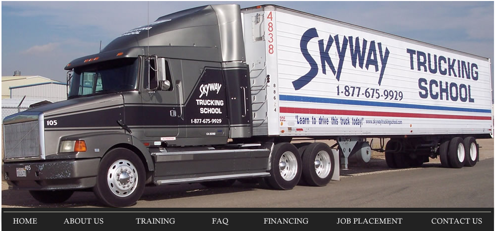 Skyway Trucking School The Sky S The Limit